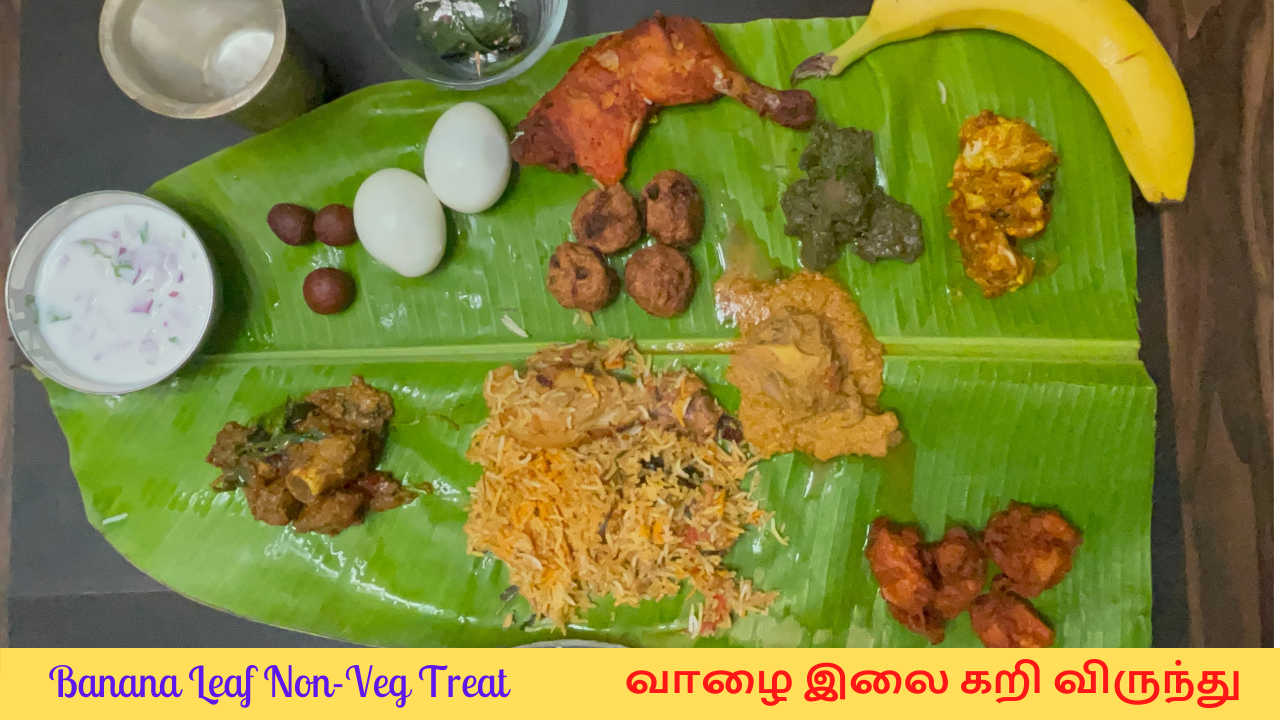South Indian Special Non Veg Treat In Banana Leaf Serving Food In Banana Leaf Is A Tradition In South India Banana Leaves Have A W In 2021 Veg Recipes Food Hot Meals