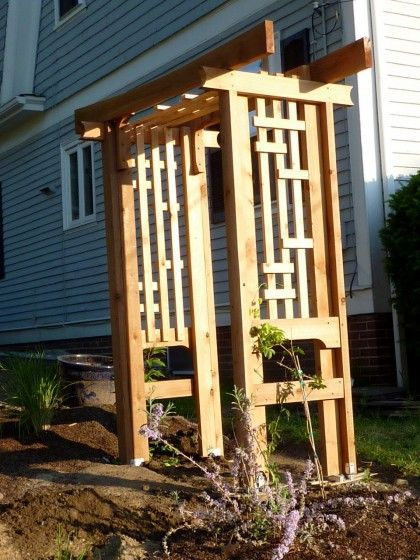 Arbors in the craftmen style craftsman asian style arbor for Craftsman style trellis