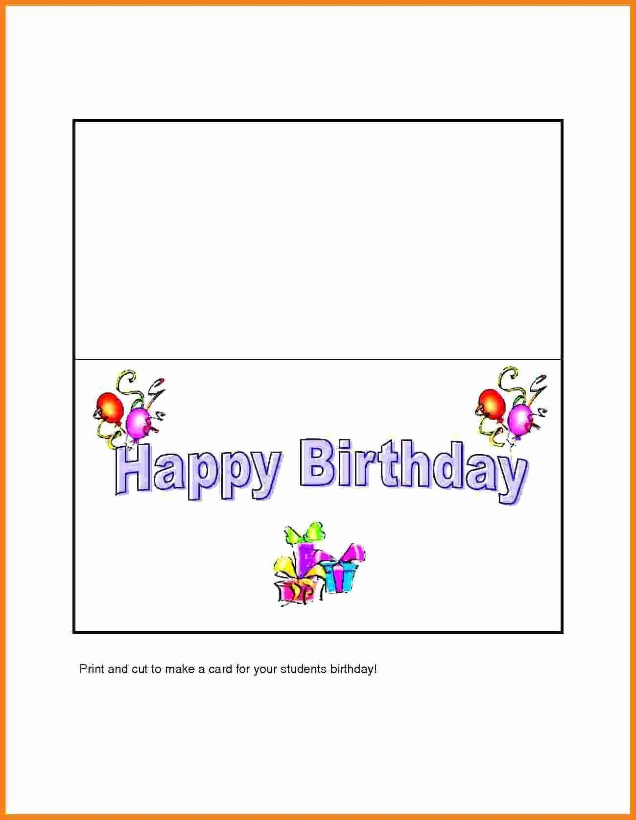 Half Fold Card Template Word Beautiful Microsoft Word Birthday Card Template Lovely Half Fo Birthday Card Template Happy Birthday Template Happy Birthday Cards