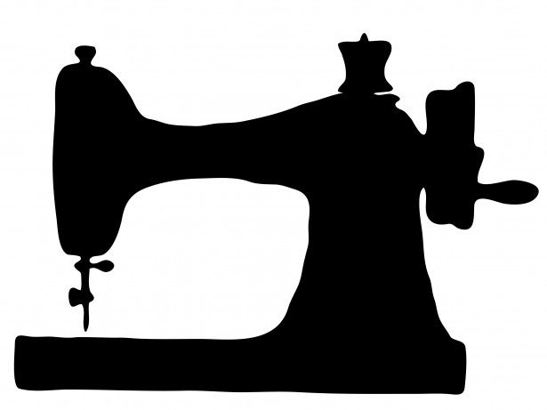 public domain vintage sewing machine clipart stencils rh pinterest com sewing machine clipart images sewing machine clip art outlines