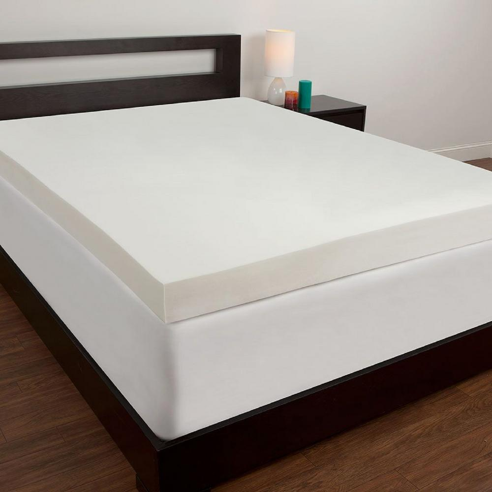 Comfort Revolution 4 In Twin Memory Foam Mattress Topper F02