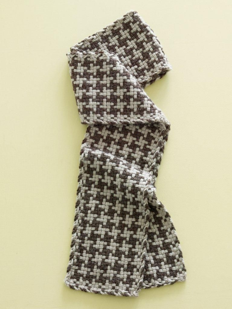 Loom-Woven Houndstooth-Check Scarf | Crocheting projects ...