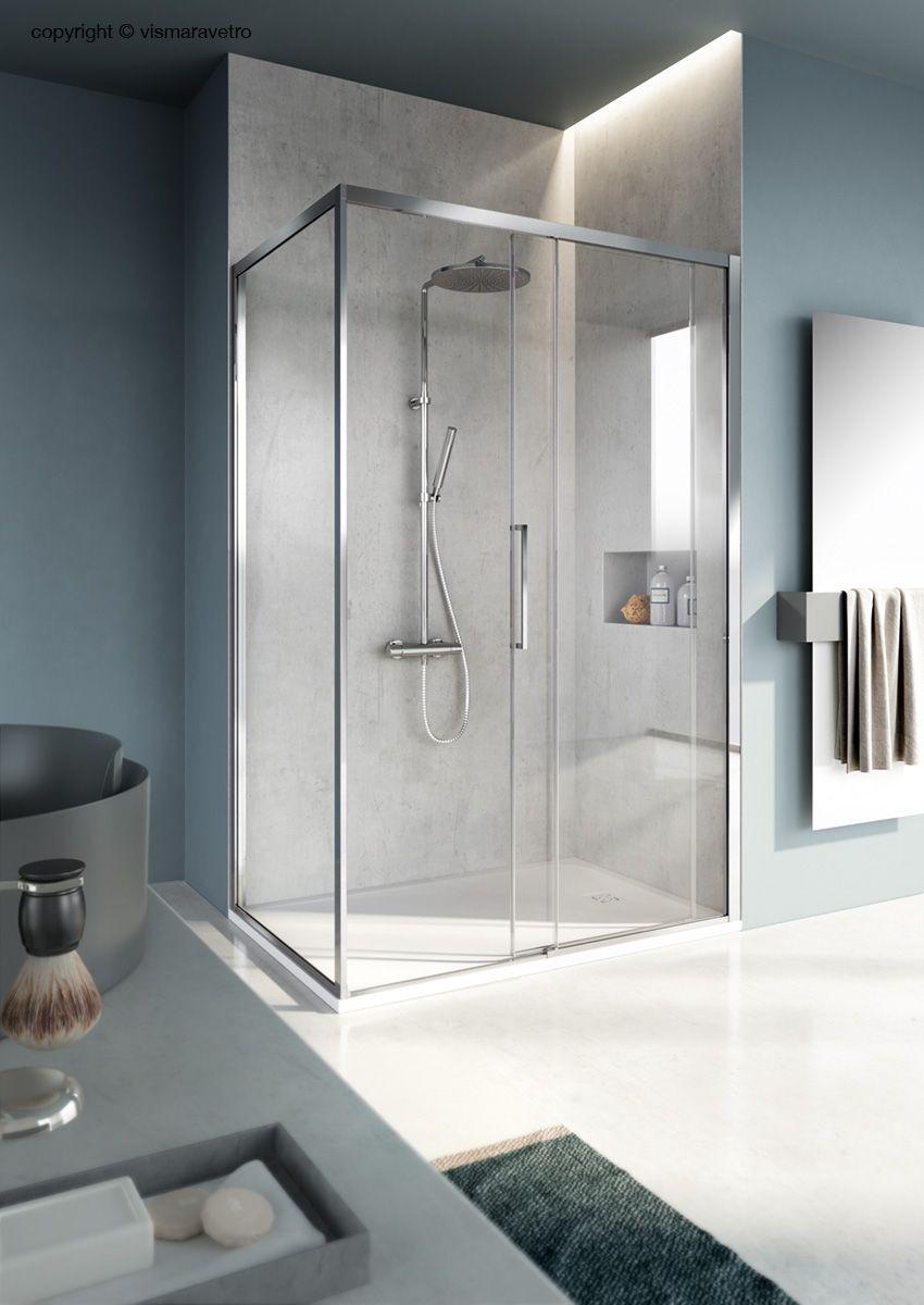 Cabina Doccia Simply.Cabina Doccia Scorrevole Con Profili Ridotti Bathroom