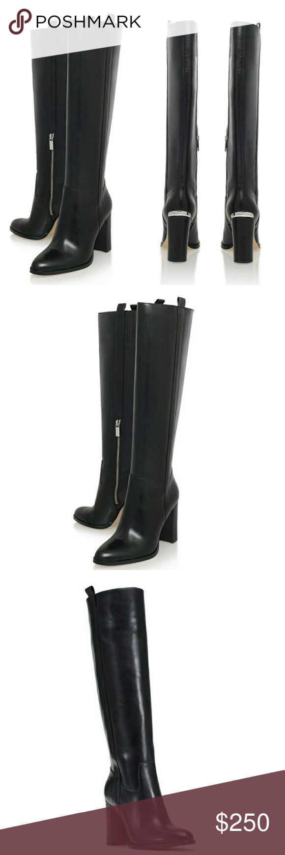 1008303d183e MICHAEL KORS Leather Shaw Tall Black Boots A shapely tall boot by MICHAEL  Michael