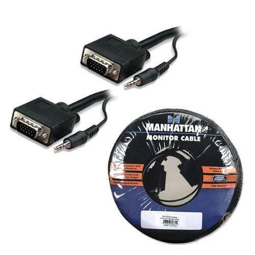 Manhattan SVGA mit Audiokabel (HD15 und 3,5 mm Stereo, Stecker auf Stecker) 7,5 m schwarz  MANHATTAN SVGA mit Audiokabel HD15 und 3,5 mm Stereo Stecker auf Stecker 7,5 m schwarz Vollstaendig geschirmt    Klicken Sie hier, um herauszufinden, wo dieser zirkus beste  aufwärts Manhattan SVGA mit...