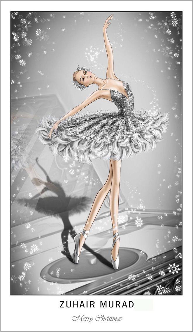 Zuhair Murad Merry Christmas Belas Bailarinas Bailarina Meninas