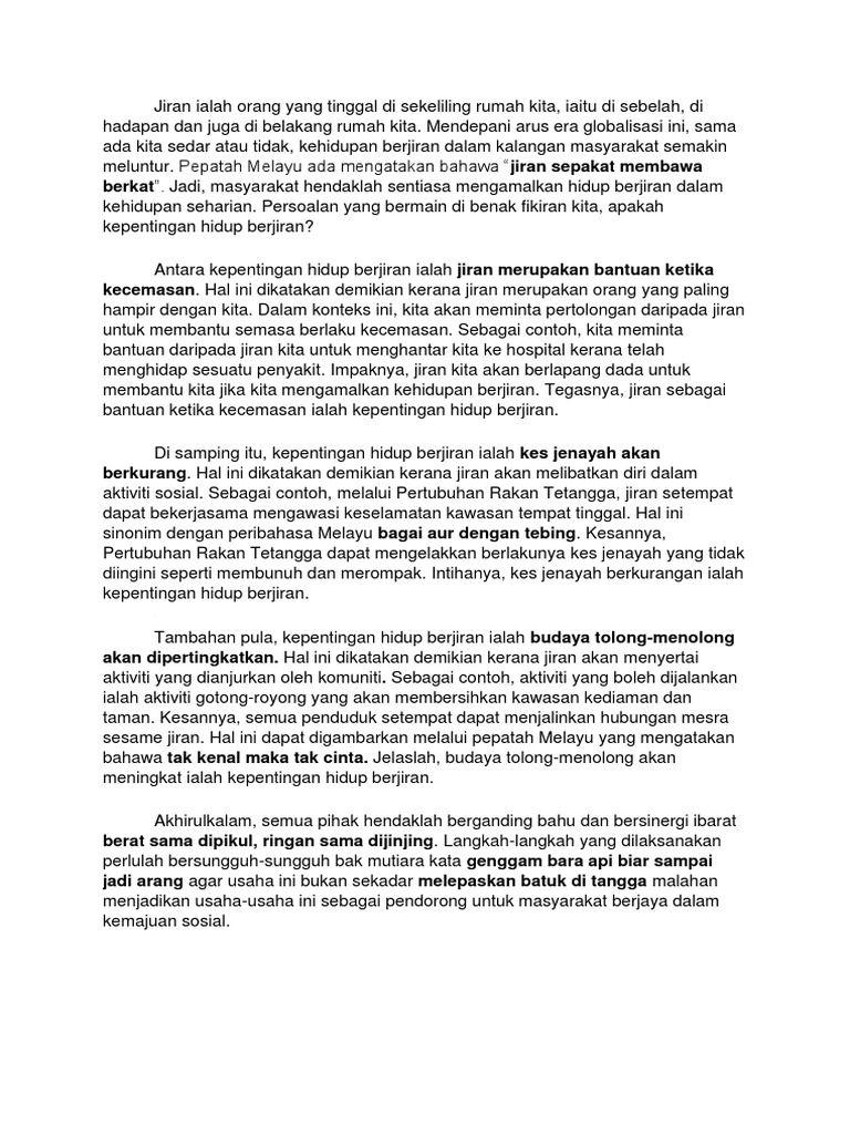 Image Result For Karangan Cemerlang Pt3 Kepentingan Jiran