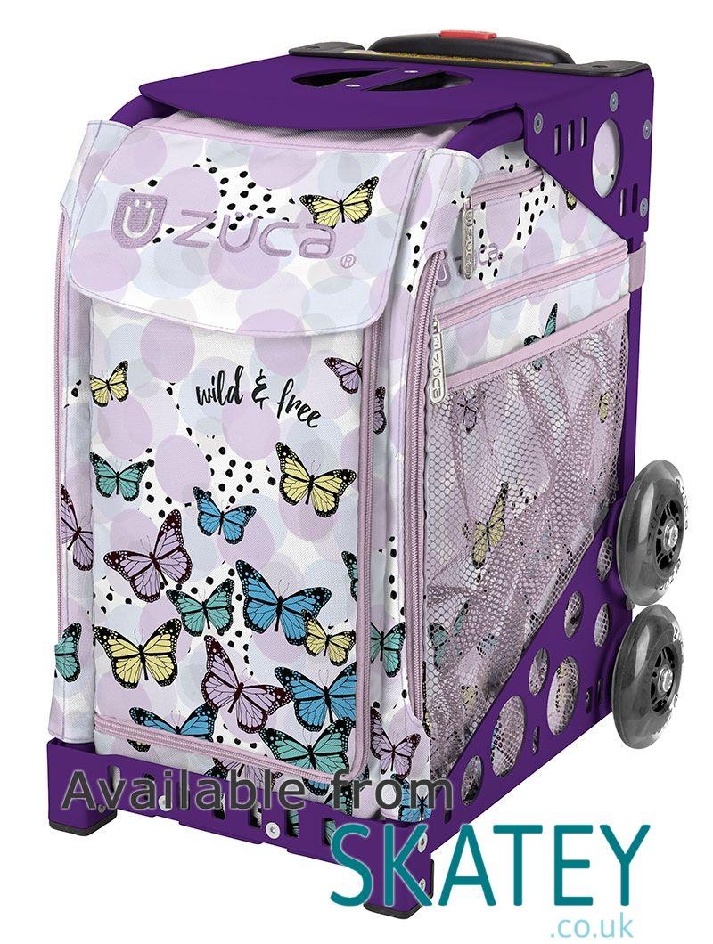 zuca sport trolley wild and free butterfly insert with purple frame - Zuca Frame