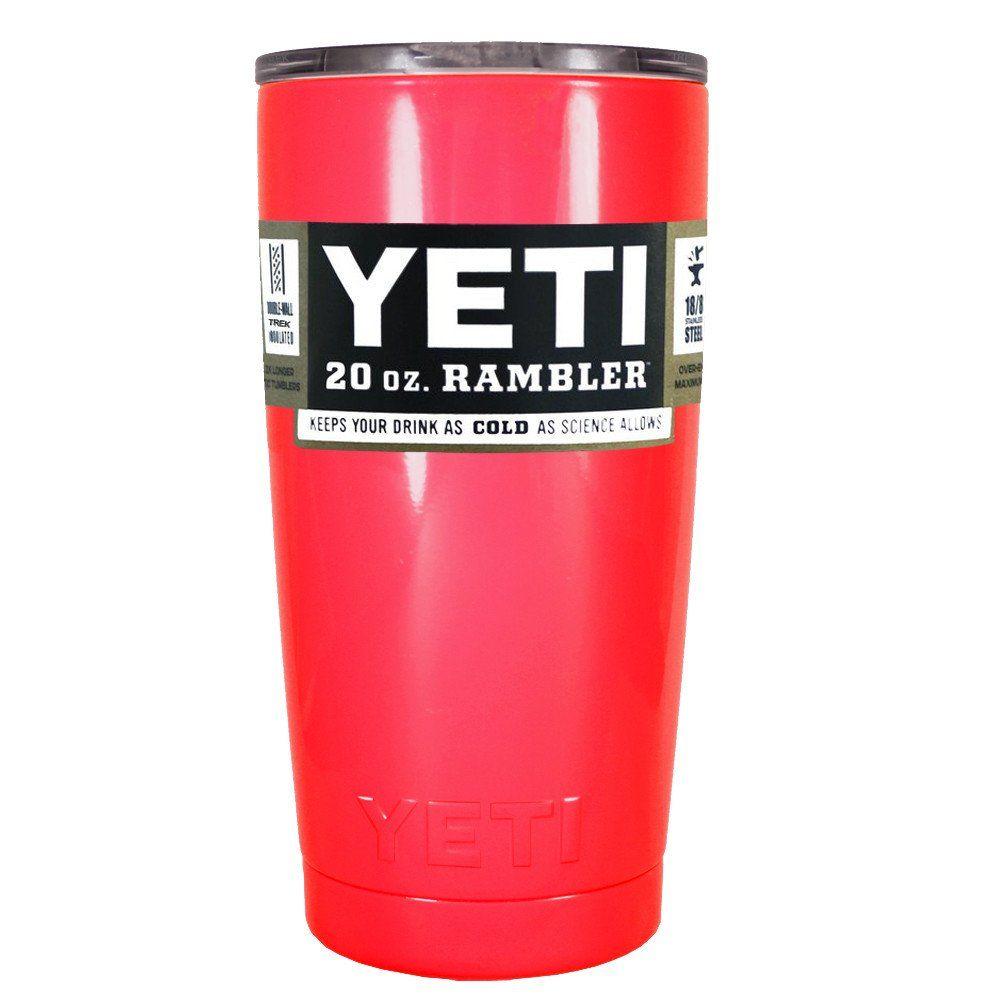 Sale new 20 oz red yeti rambler tumbler mug colored