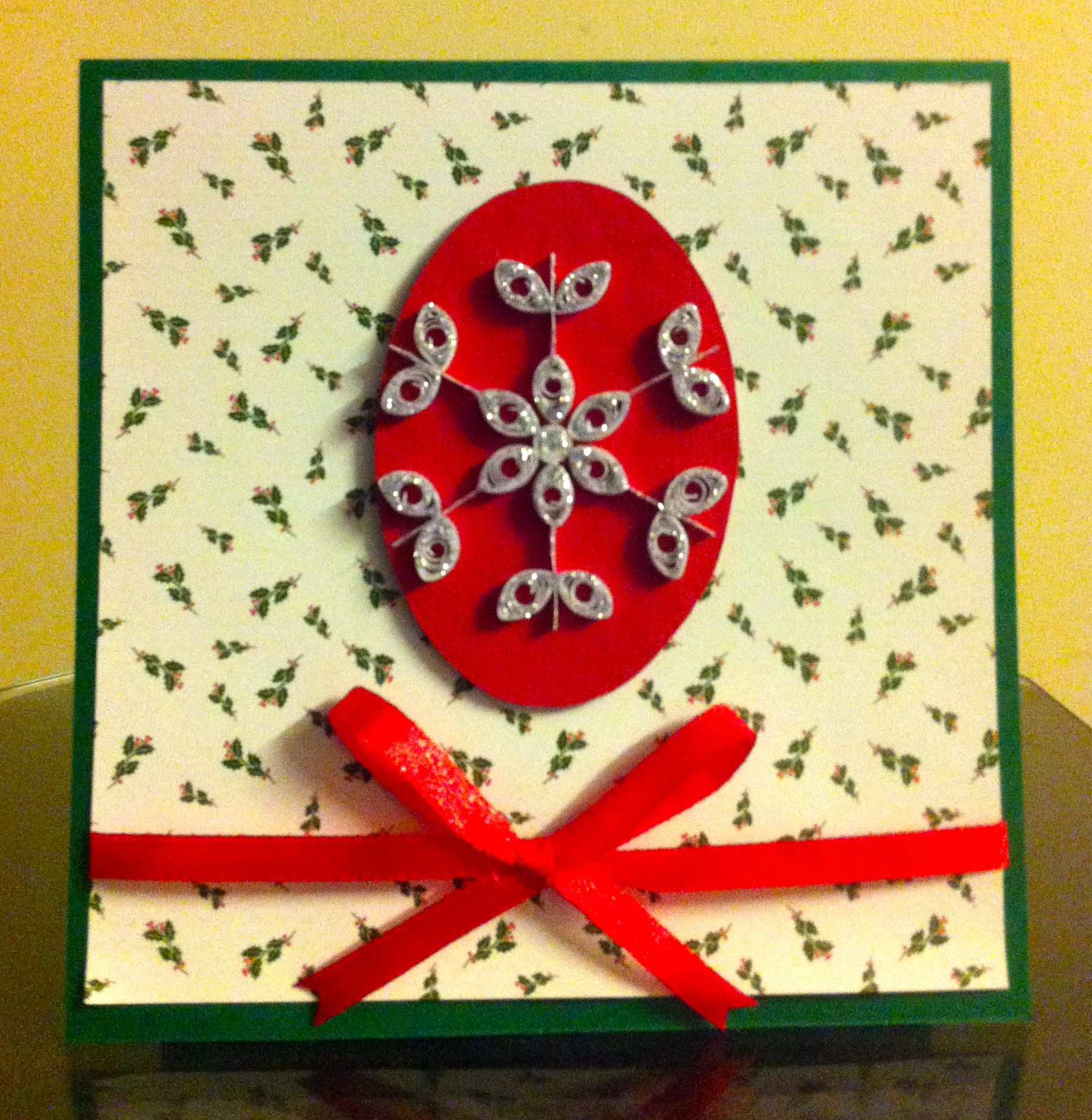 Christmas Card - Quilled Snowflake