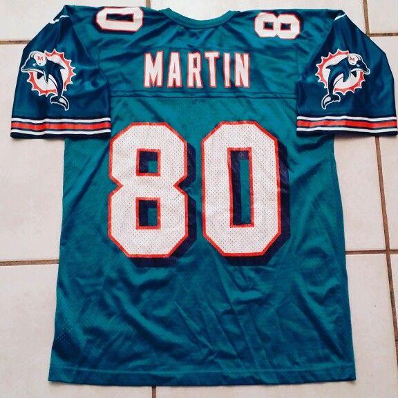 rare vintage 90s nike miami dolphins tony martin nfl jersey