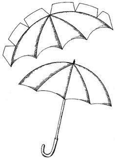D Umbrella Template  D    Cali D And Template