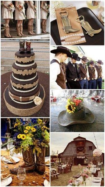 Western Cowboy Country Theme Wedding Ideas From HotRef CountryWedding