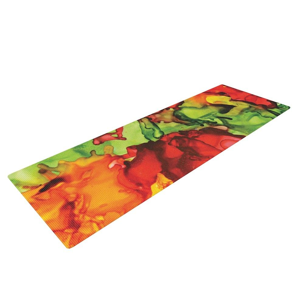 One Love by Claire Day Yoga Mat
