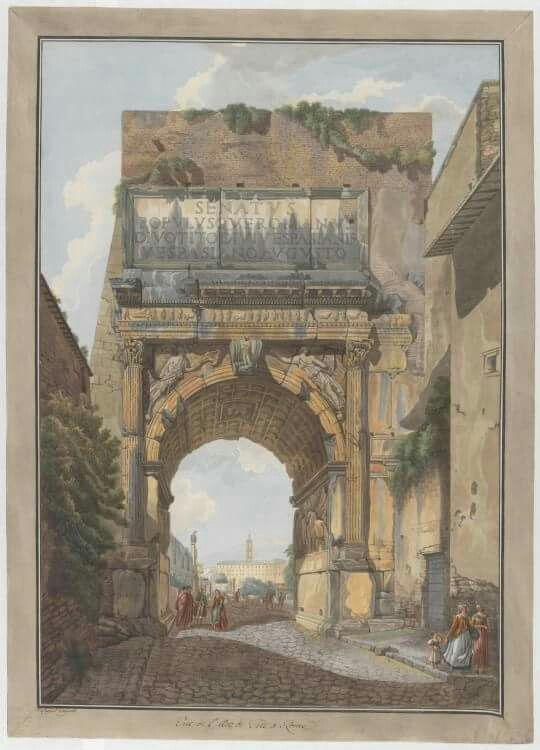 Arch of Titus  by Abraham-Louis-Rodolphe Ducros and Giovanni Volpato Circa 1780 #architecture