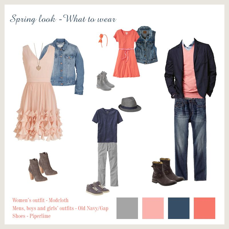 What To Wear For Family Photos In The Spring