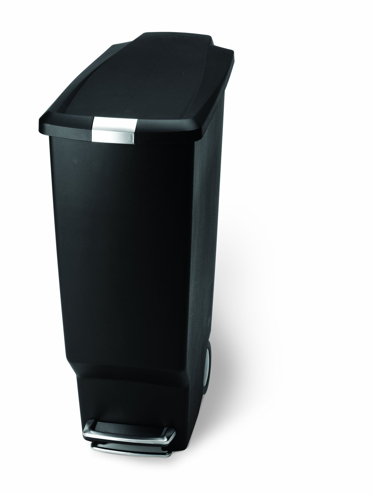 slim kitchen trash can bar stools for islands simplehuman plastic step black 40