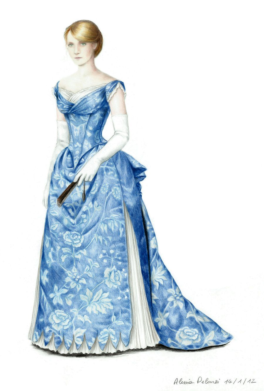 Blue Ball Gown (1885) by AlessiaPelonzi.deviantart.com on ...