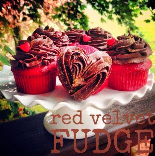 Red Velvet Fudge Cupcakes with recipe by Amanda Cupcake