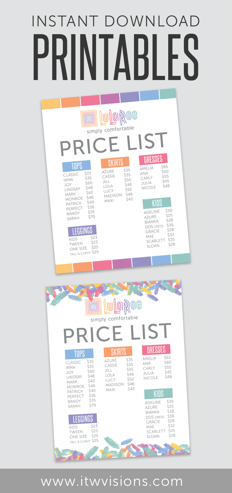image about Lularoe Price List Printable known as Pin by means of Tammy - Image Designer upon Boost Your Minimal