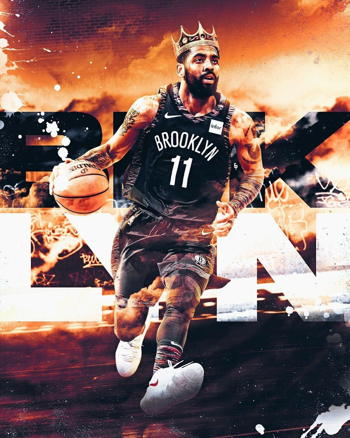 Kyrie Irving Artwork Poster Nba Irving Vintage Poster Canvas Brooklyn Nets 6 99 Frames Its Only For Example Yo Kyrie Irving Nba Pictures Irving Wallpapers