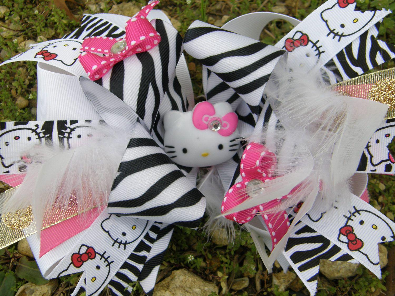 Hello kitty hair bow bows pinterest hair bow hello kitty and