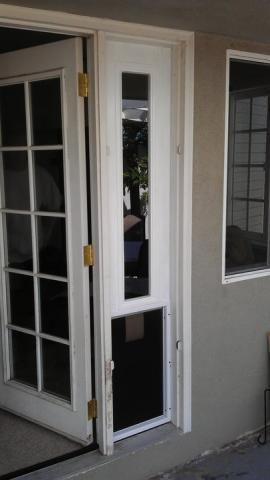 Want To Get French Doors With A Side Panel For The Dog Door So