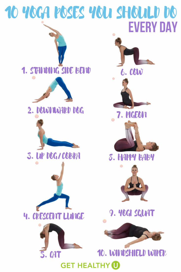 This simple yoga workout gives you 36 yoga poses you should do