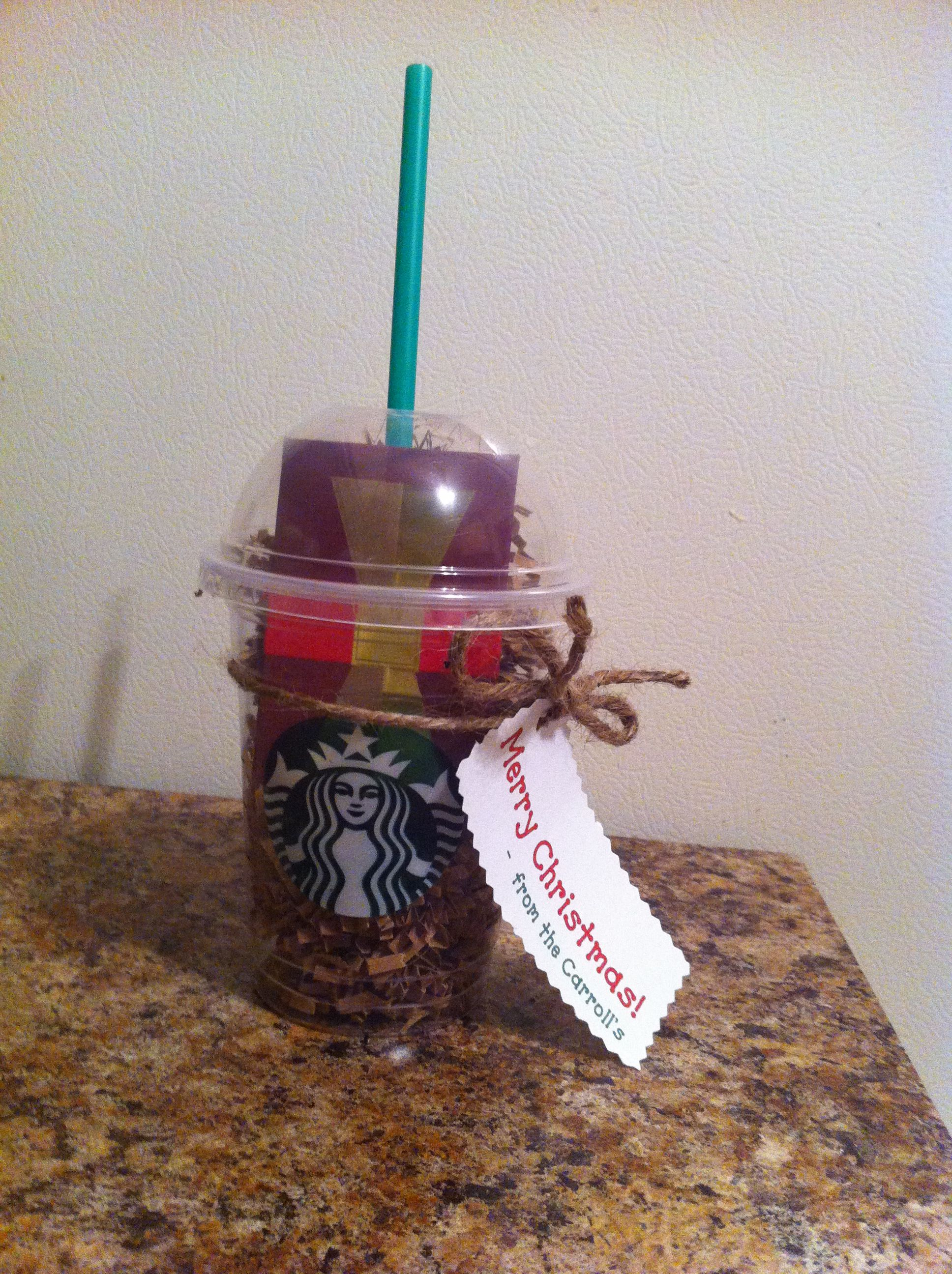 Starbucks gift card for fellow staff members | things I made ...