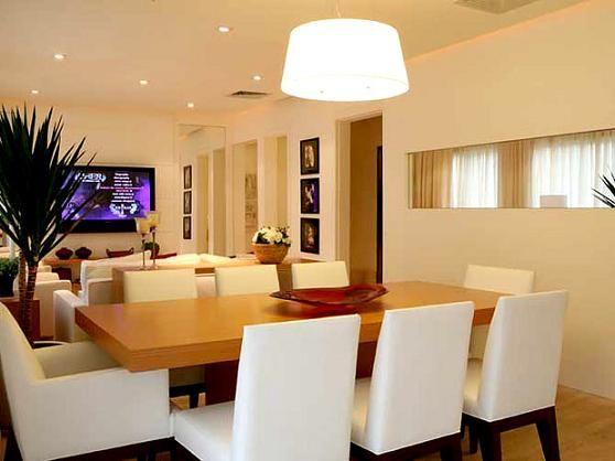 Sala de estar e jantar juntas