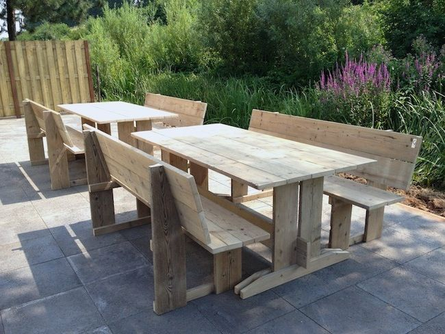 Loungeset Tuin Outlet : Monterosso steigerhouten eettafel Мебель tuin