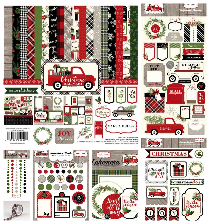 Scrapbook paper collections - Carta Bella Christmas Delivery Collection A Scrapbook And Paper
