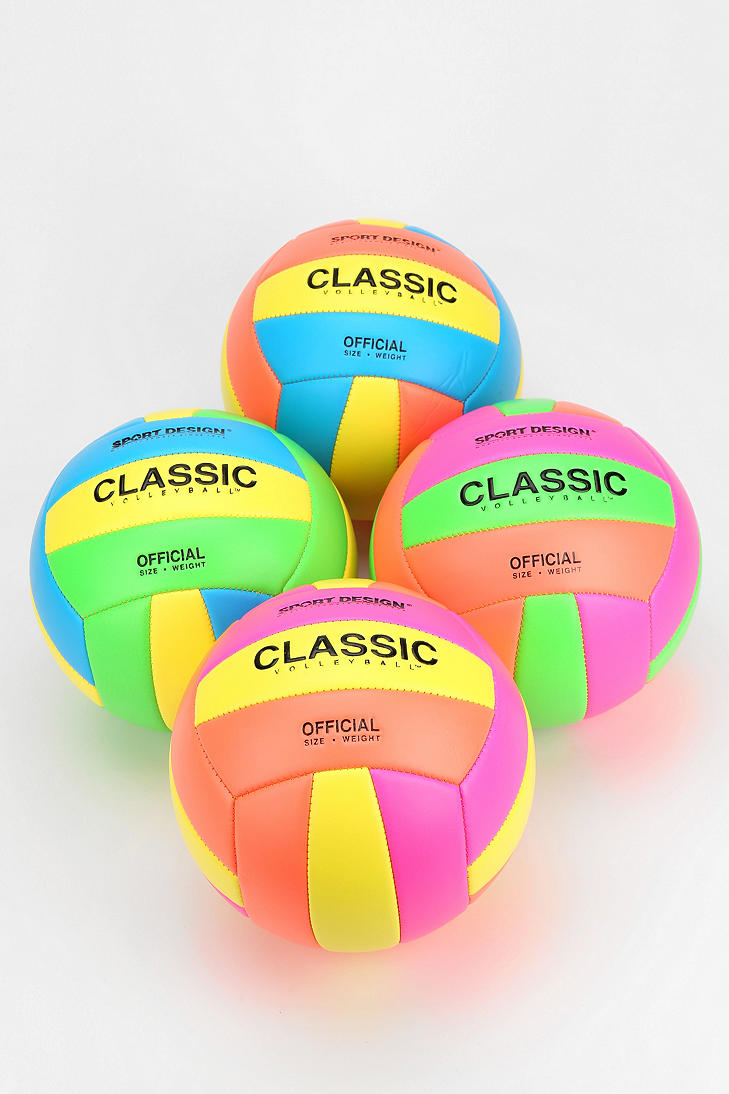 Urbanoutfitters Apparment Games Clue Standout Items Manufacturer Volleyball Item Neon Fun C Volleyballs Volleyball Play Volleyball