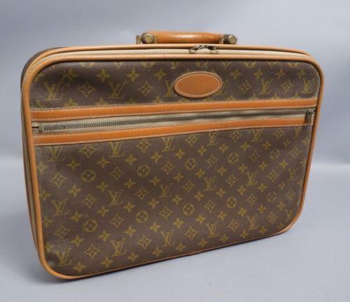 Vintage 1950s 60s Louis Vuitton Leather Briefcase Luggage Bag Carry On Leather Briefcase Luggage Bags Briefcase