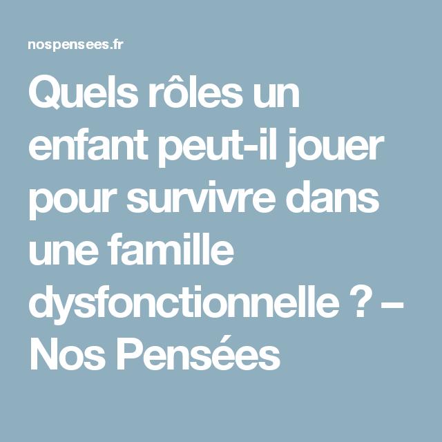 (Dys) Fonctionnelle