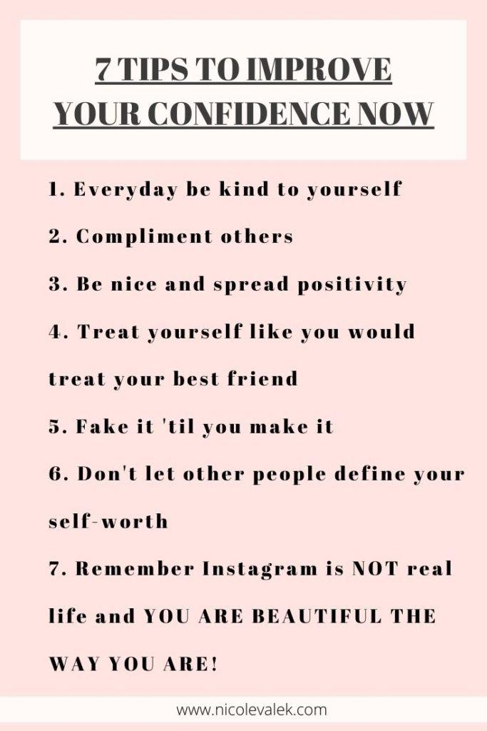How To Work On Your Confidence - NICOLEVALEK.COM
