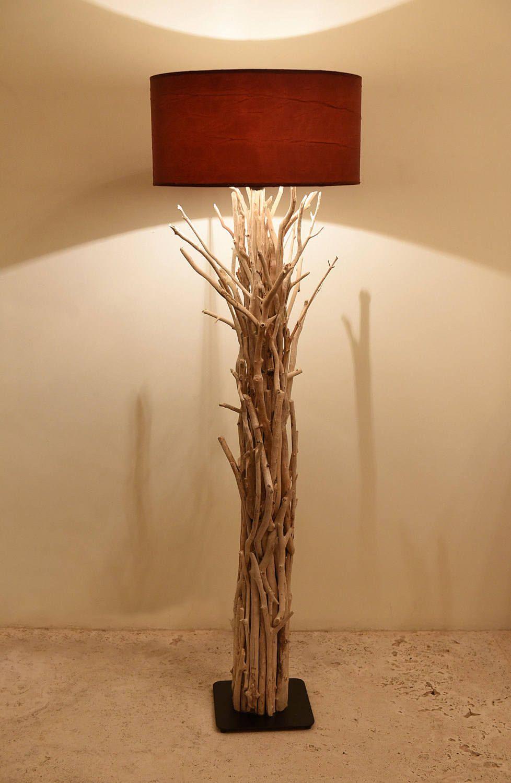 Driftwood Floor Lamp Decor Lighting Beach Art Coastal