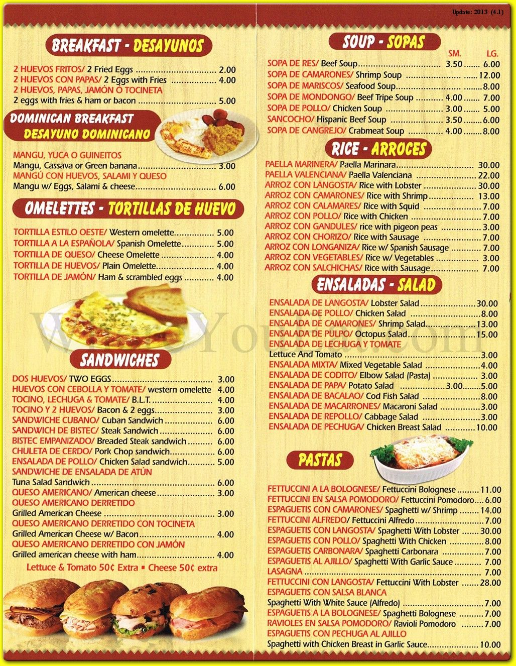 Image result for menu in spanish