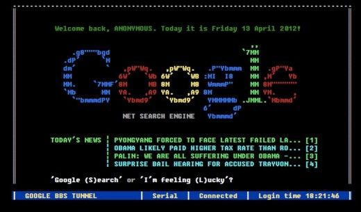 Google was a BBS, This is What it Would've Looked Like Here's what Google would've looked like had it been a BBS in the 80′sHere's what Google would've looked like had it been a BBS in the 80′s