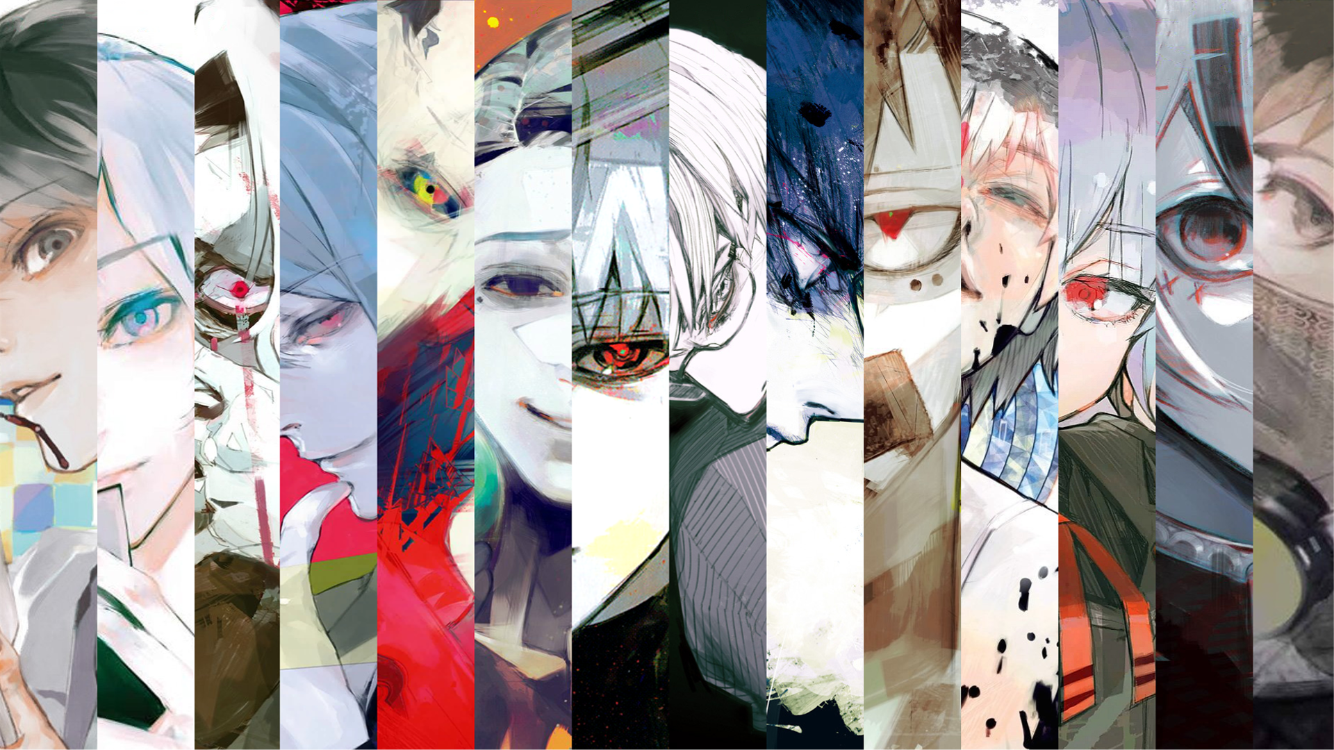 Tokyo Ghoul Re Volume Covers Wallpaper 1920x1080 東京喰種