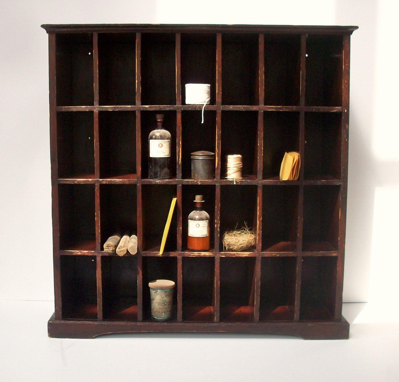 Vintage Postal Cabinet / Mail Sorter / Collection Display Cabinet ...