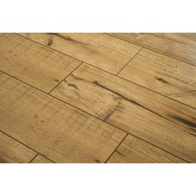 Style Selections 5 43 In W X 3 976 Ft L Antique Hickory Wood Plank Laminate Flooring At Lowes