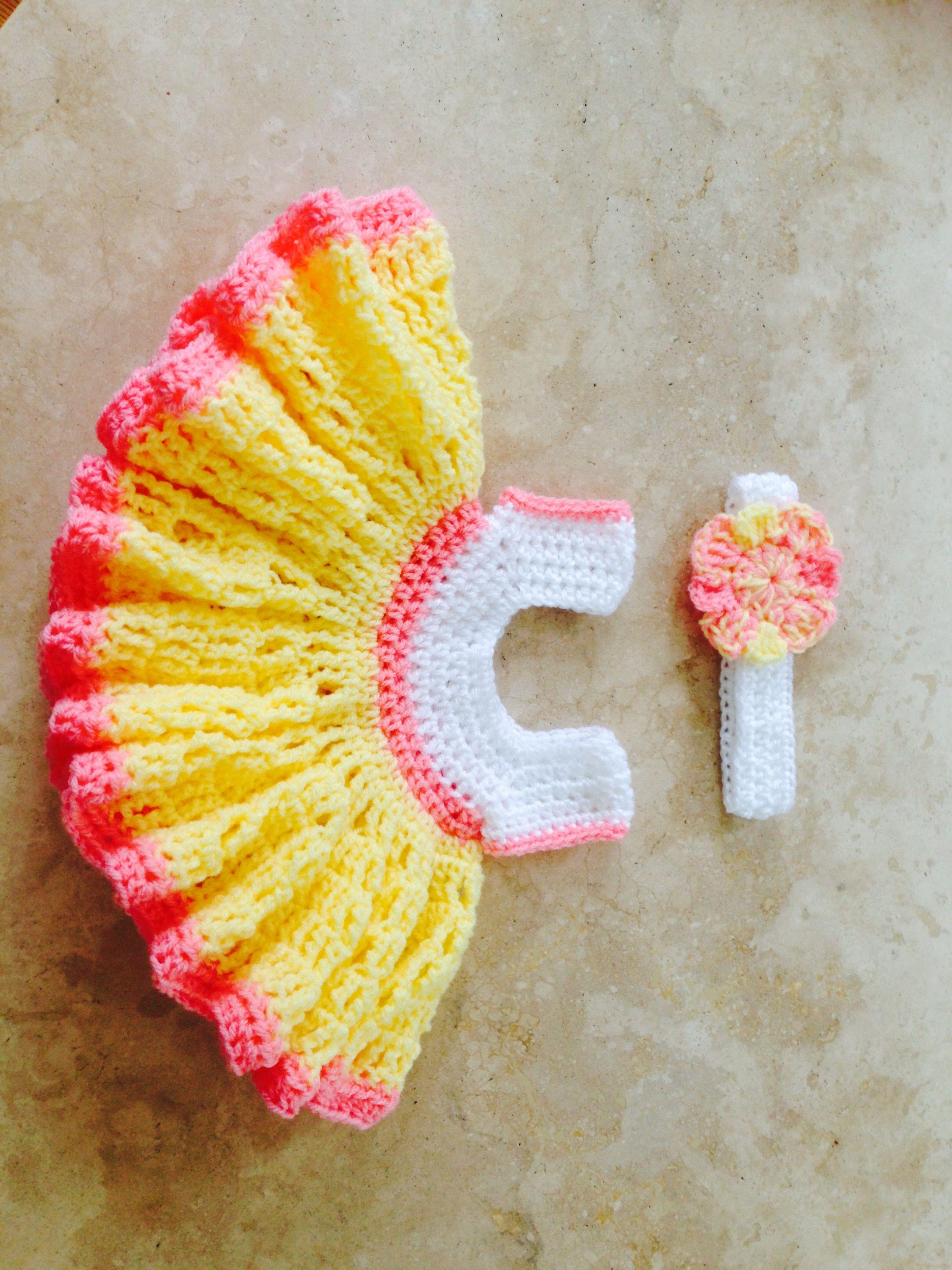 Crochet dress set