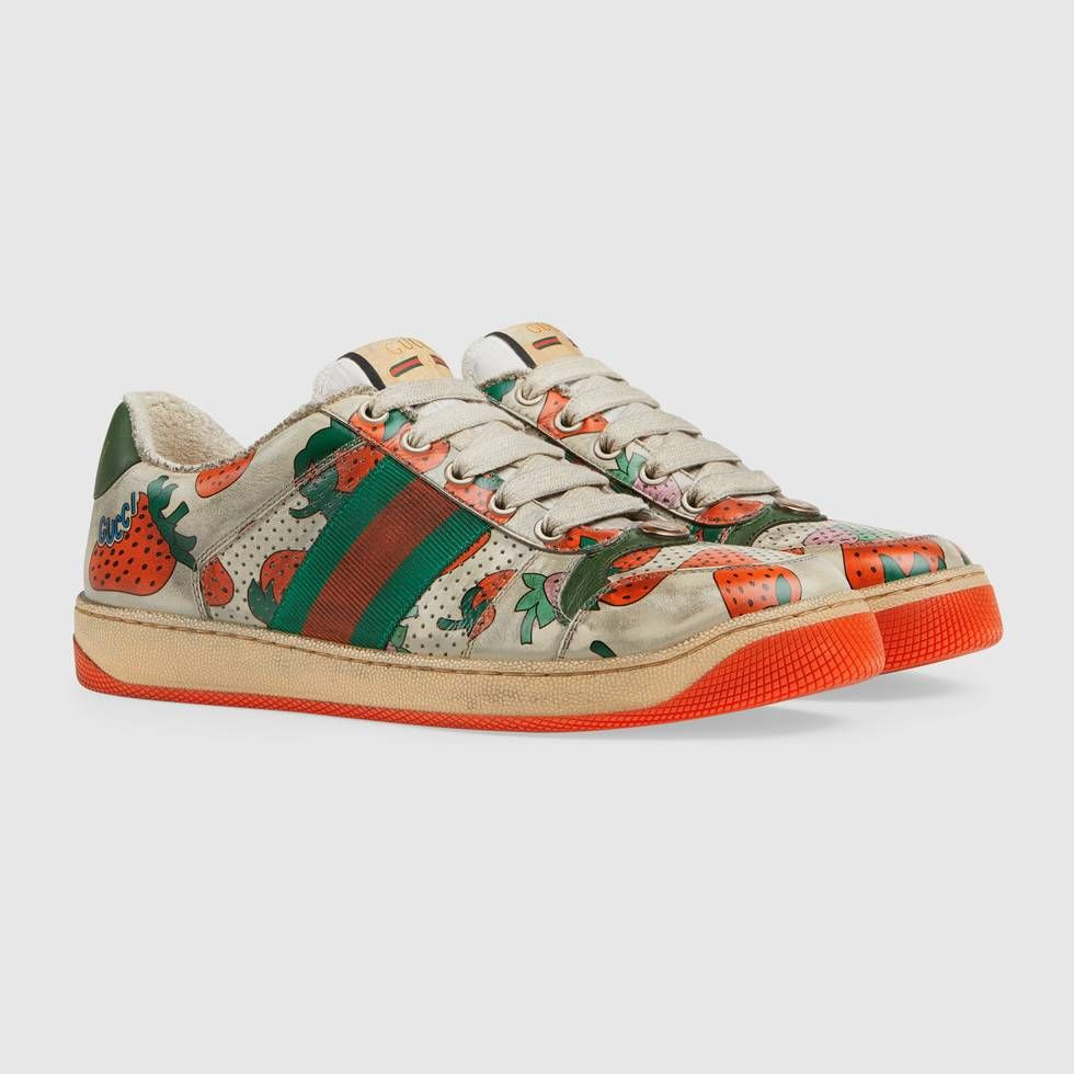Leather sneakers, Gucci, Sneakers