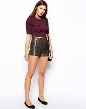 Sugarhill Boutique Sweetheart Metallic Shorts