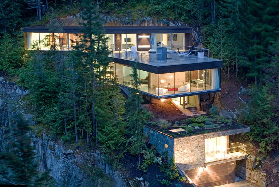 A Snowboarder S House Built Into A Canadian Mountain House Architecture Design Architecture House Architecture