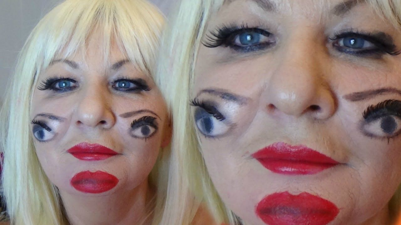extreme creative makeup lookluna, double eyes | happy halloween