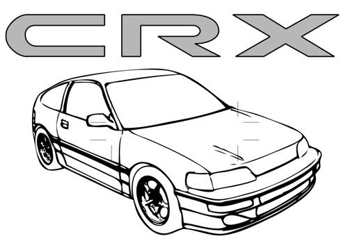 Coloring Pages Honda Cars Honda