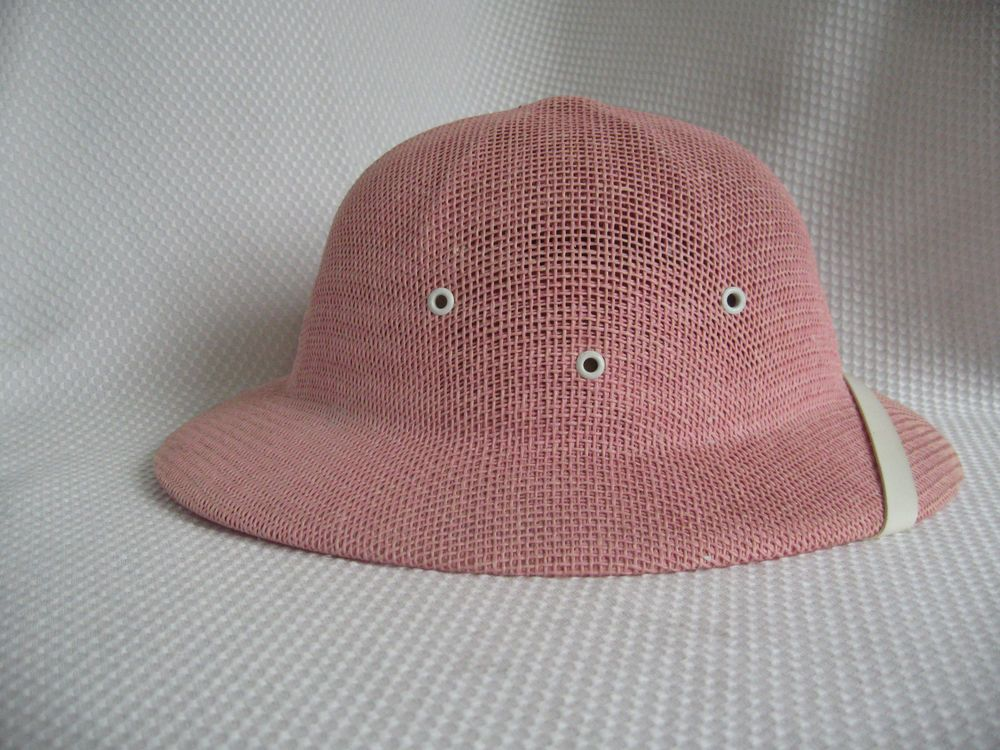Women s PINK Safari Woven Pith Helmet Hat GTH Golf   Tennis Headwear Co.  EUC  GTH  PithHelmet 9d0c383f264