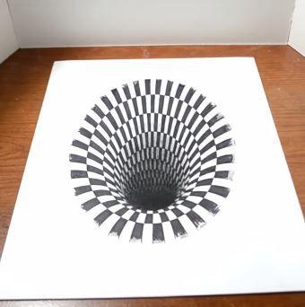 Dessin Incroyable Dun Trou En Illusion Doptique